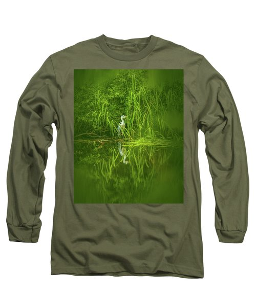 Fairy Tale Heron #g5 Long Sleeve T-Shirt