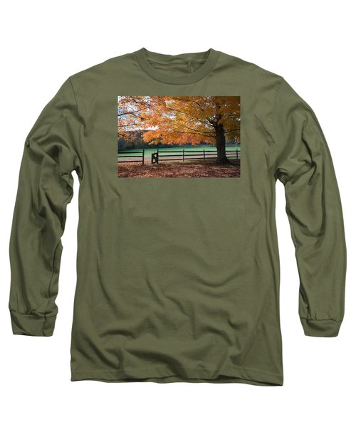 Fal Foliage And Fence Long Sleeve T-Shirt