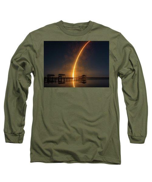 Falcon 9  Night Launch Long Sleeve T-Shirt