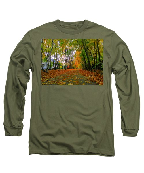 Fall Afternoon On The Rail Trail Long Sleeve T-Shirt