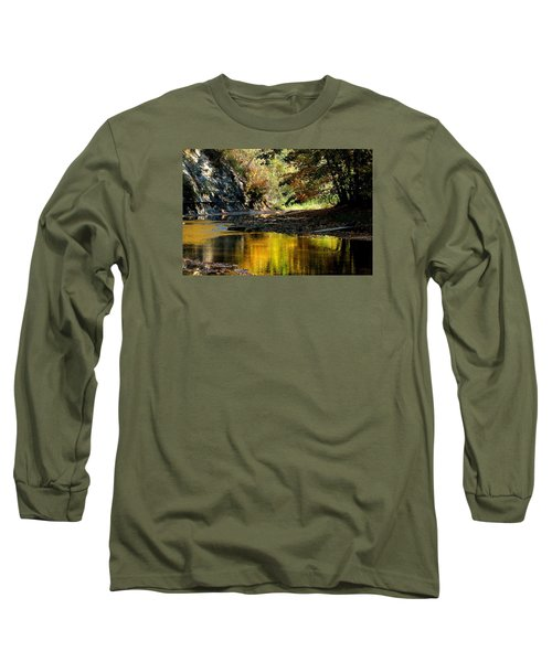 Fall At Big Creek Long Sleeve T-Shirt by Bruce Patrick Smith