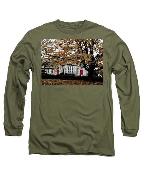 Fall At Church Long Sleeve T-Shirt