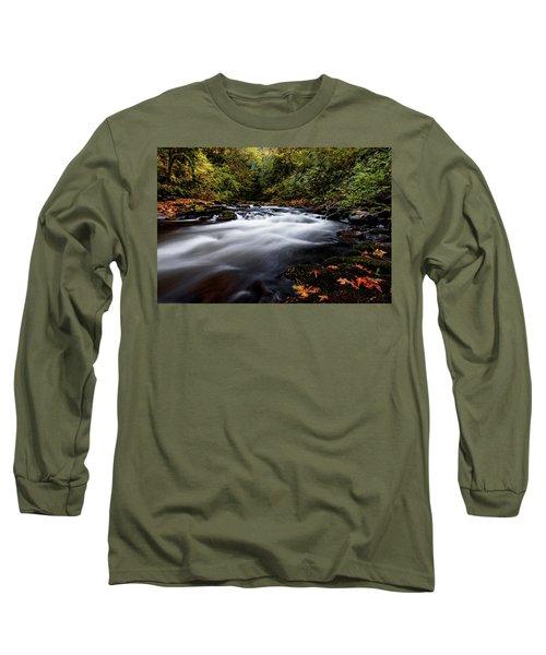 Fall Color At Cedar Creek Long Sleeve T-Shirt