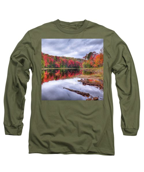 Long Sleeve T-Shirt featuring the photograph Fall Color At The Pond by David Patterson