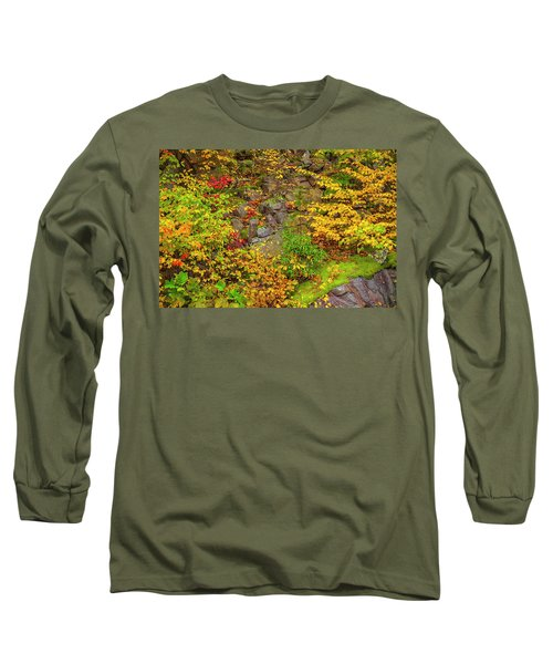Fall Color Patchwork Long Sleeve T-Shirt