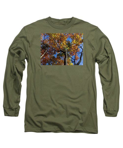 Long Sleeve T-Shirt featuring the photograph Fall Colorful Trees by Haleh Mahbod