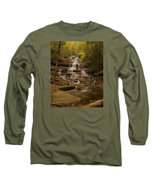 Fall Colors At Minnehaha Falls Long Sleeve T-Shirt by Barbara Bowen