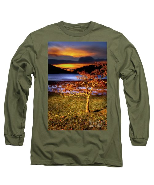 Long Sleeve T-Shirt featuring the photograph Fall Colors At Sunrise In Otter Blue Ridge by Dan Carmichael