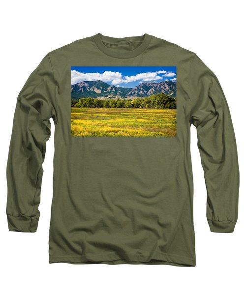 Fall Colors Of Boulder Colorado Long Sleeve T-Shirt