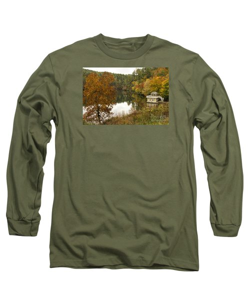 Fall Fishing Long Sleeve T-Shirt by Barbara Bowen