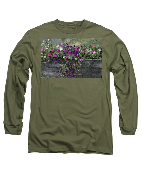 Fall Flower Box Long Sleeve T-Shirt by Joanne Coyle