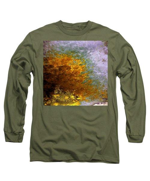 Long Sleeve T-Shirt featuring the digital art Fall Foliage by John Krakora