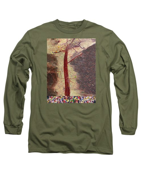 Long Sleeve T-Shirt featuring the painting Fall by Haleh Mahbod