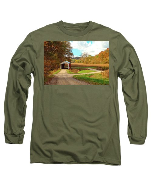 Long Sleeve T-Shirt featuring the photograph Fall Harvest - Parke County by Harold Rau