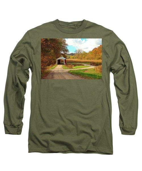 Fall Harvest - Parke County Long Sleeve T-Shirt