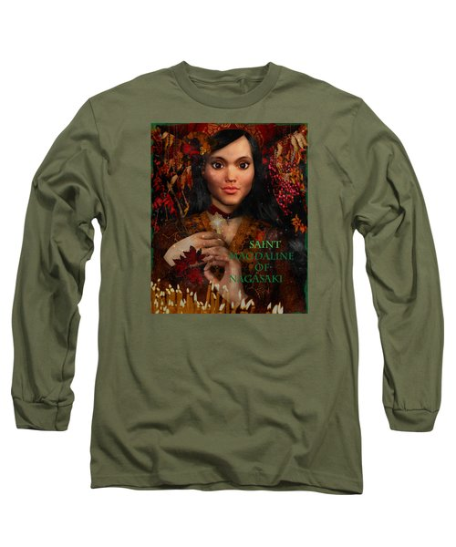 Long Sleeve T-Shirt featuring the painting Fall Holidays Magdalene Of Nagasaki by Suzanne Silvir
