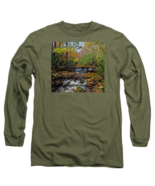 Fall In Cataloochee Long Sleeve T-Shirt by Paul Mashburn