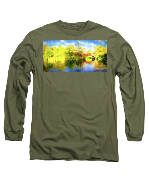 Long Sleeve T-Shirt featuring the photograph Fall In Central Park by Jim  Hatch