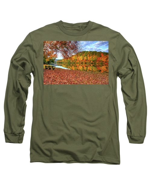 Long Sleeve T-Shirt featuring the digital art Fall In Murphy, North Carolina by Sharon Batdorf