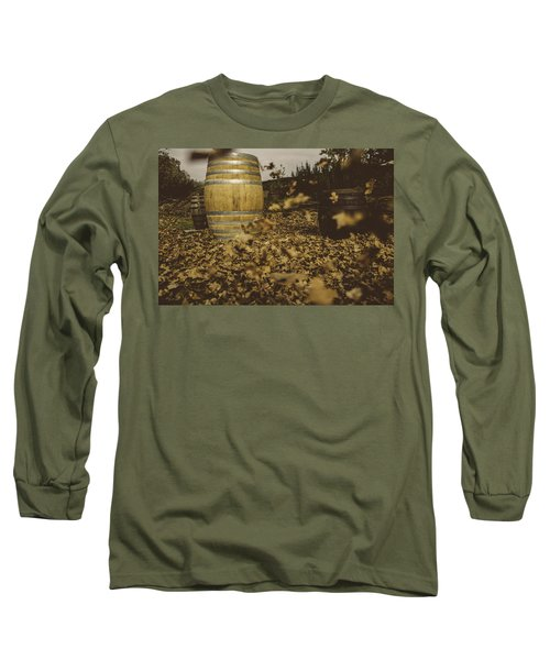 Fall In The Garden Long Sleeve T-Shirt by Cesare Bargiggia