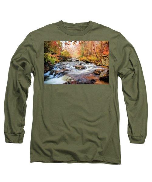Fall Morning At Gunstock Brook Long Sleeve T-Shirt by Robert Clifford