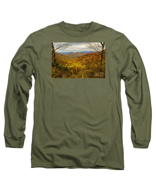 Fall Mountain Overlook Long Sleeve T-Shirt by Barbara Bowen
