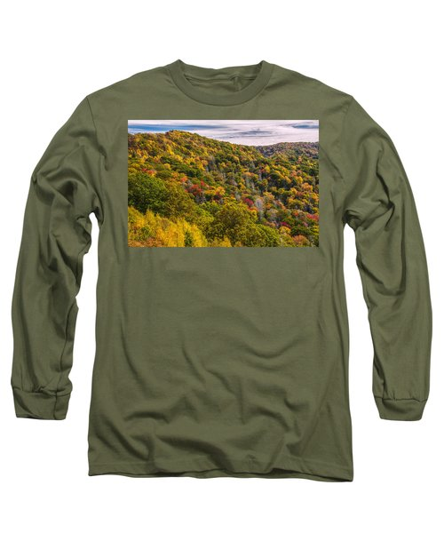 Long Sleeve T-Shirt featuring the photograph Fall Mountain Side by Tyson Smith