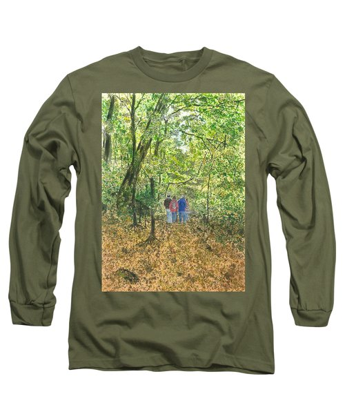 Long Sleeve T-Shirt featuring the painting Fall Nymphs - IIi by Joel Deutsch