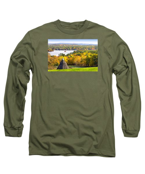 Long Sleeve T-Shirt featuring the photograph Fall On Lake Winnipesaukee At Center Harbor by Betty Denise