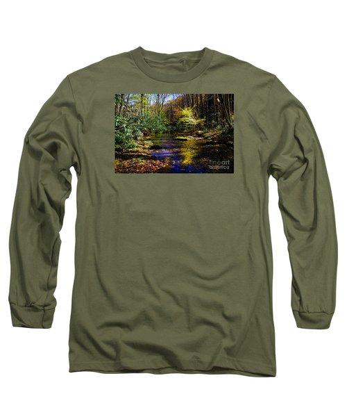 Fall On Rough Creek Long Sleeve T-Shirt by Paul Mashburn