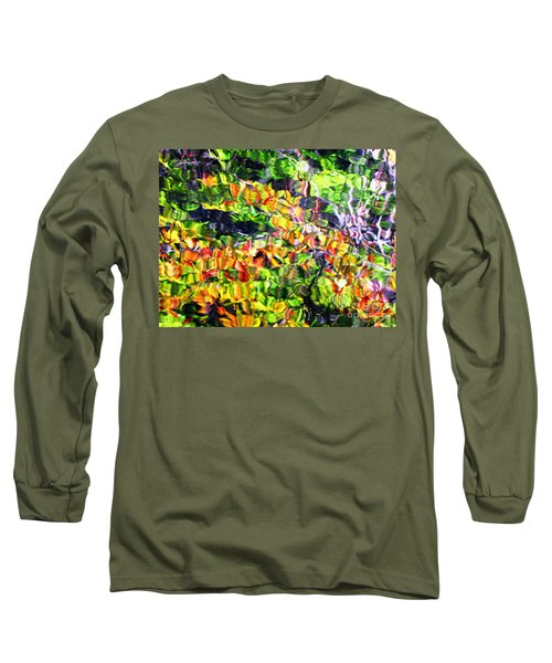 Fall On The Pond Long Sleeve T-Shirt by Melissa Stoudt