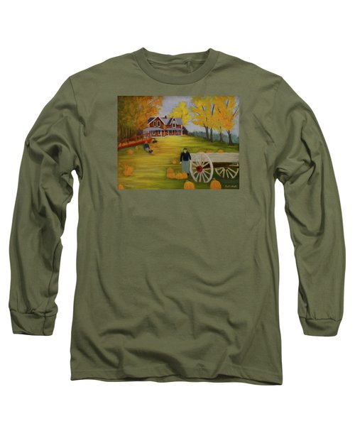 Fall Pumpkin Harvest Long Sleeve T-Shirt