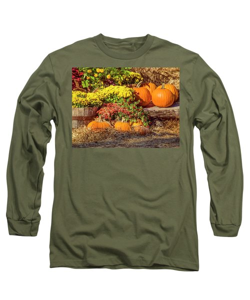 Long Sleeve T-Shirt featuring the photograph Fall Pumpkins by Carolyn Marshall