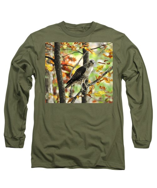 Fall Red-tailed Hawk Long Sleeve T-Shirt