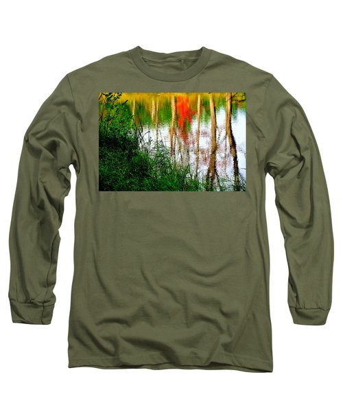 Long Sleeve T-Shirt featuring the photograph Fall Reflections by Elfriede Fulda
