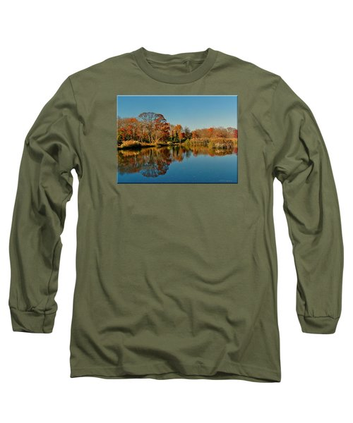 Fall Scene Long Sleeve T-Shirt by Mikki Cucuzzo