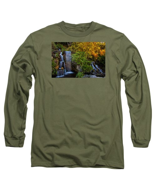 Long Sleeve T-Shirt featuring the photograph Fall Water Fall by Harry Spitz