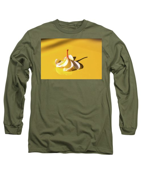 Fallen Frangipani On Mustang Long Sleeve T-Shirt