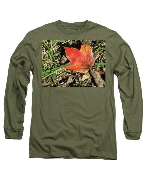 Fallen Leaf Long Sleeve T-Shirt by Michele Wilson