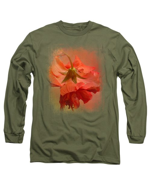 Falling Blossom Long Sleeve T-Shirt by Jai Johnson
