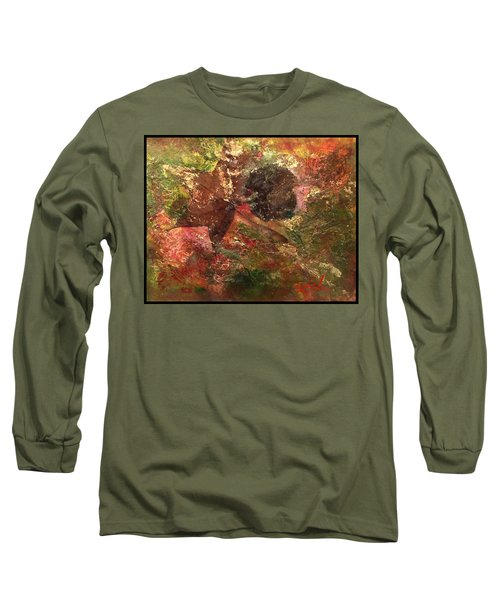 Long Sleeve T-Shirt featuring the mixed media Falling In Love  by Delona Seserman