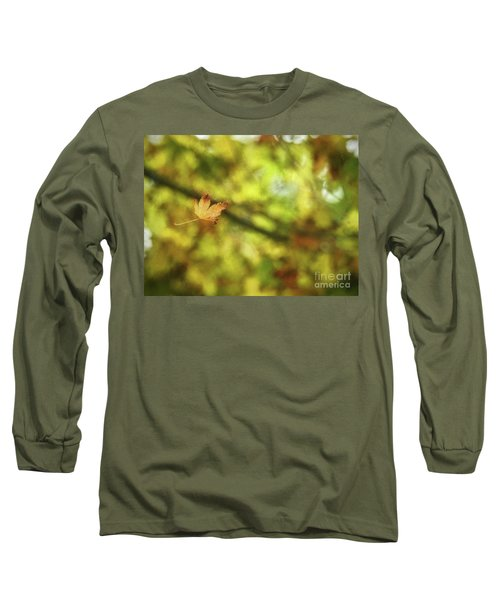 Long Sleeve T-Shirt featuring the photograph Falling by Peggy Hughes