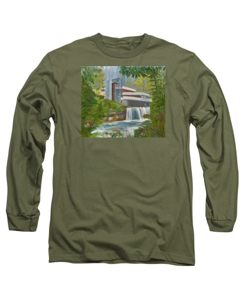 Falling Water Long Sleeve T-Shirt by Jamie Frier