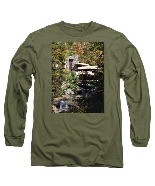 Fallingwater By Frank Lloyd Wright Long Sleeve T-Shirt by Brendan Reals