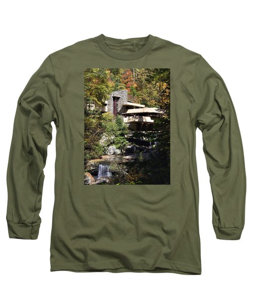 Fallingwater By Frank Lloyd Wright Long Sleeve T-Shirt