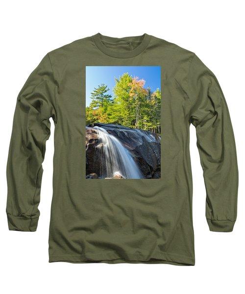 Falls Diana's Baths Nh Long Sleeve T-Shirt by Michael Hubley
