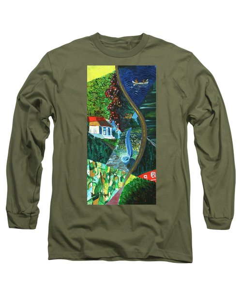 Falls, Fingers And Gorges Long Sleeve T-Shirt