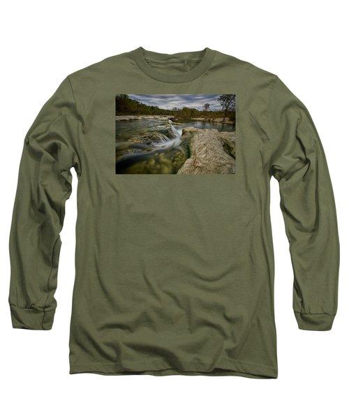 Texas Hill Country Falls Long Sleeve T-Shirt