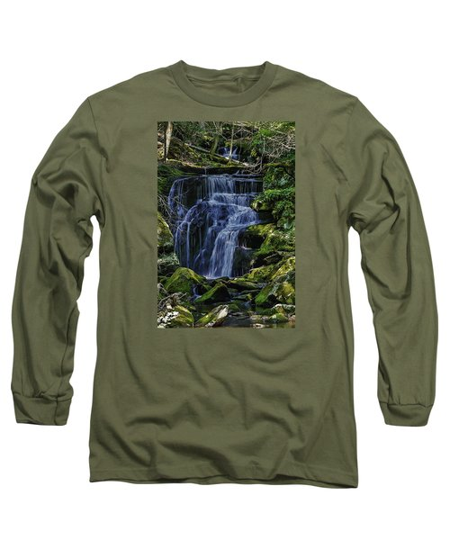Falls In Vermont Mountain Stream  Long Sleeve T-Shirt