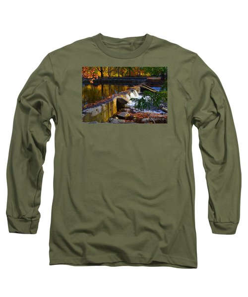 Falls Park Waterfall In The Fall Long Sleeve T-Shirt